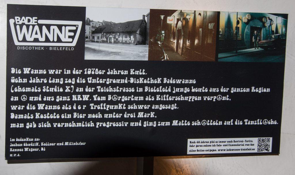 """Dokumentation der 1980 abgerissenen Disko """"Badewanne"""""""