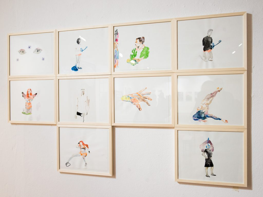 Alexandra Sonntag zeigt beim Black Market im Kunstraum Rampe aktuelle Aquarelle.